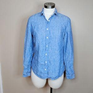 J. Crew Irish Linen shirt - size 4